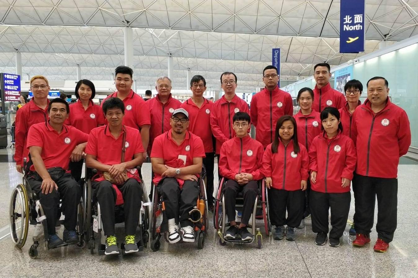 香港代表團出發參加第十屆中華人民共和國殘疾人運動會第一階段賽事