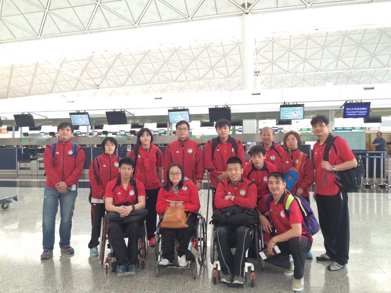 港隊啟程前往加國參與輪椅劍擊格蘭披治賽